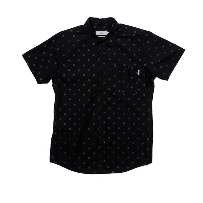 Publish pánská košile černá spuntíky