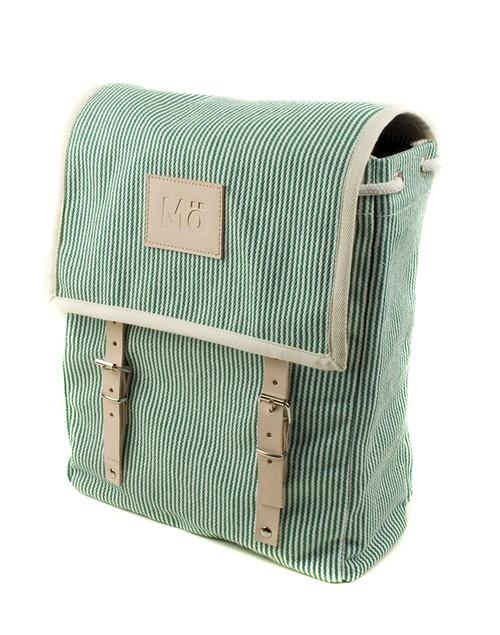 Mö Heap zelený pruhovaný batoh na záda