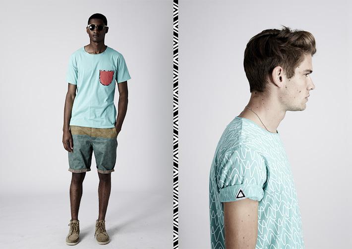 Volklore světle zelené tričko skapsičkou, pastelová barva, šortky