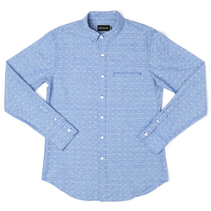 Outclass pánská košile bledě modrá