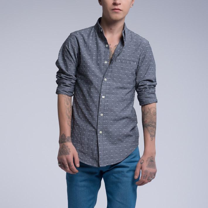 Outclass pánská košile šedá