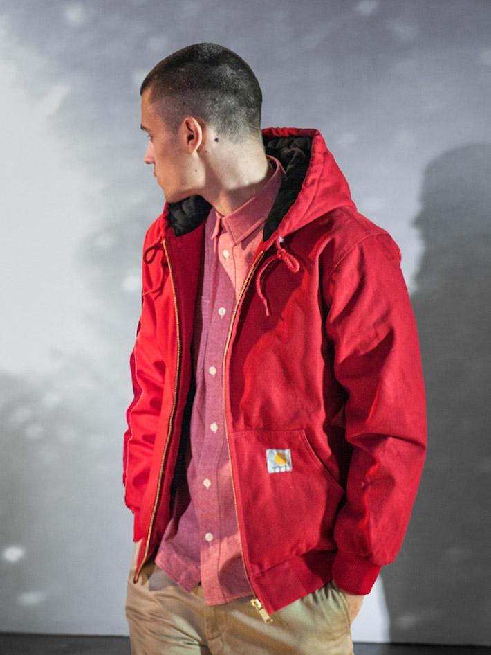 Carhart WIP pánská červená bunda podzimní