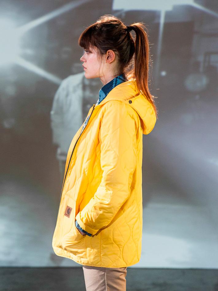 Carhart WIP, podzimní bunda dámská žlutá