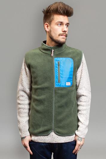 RVLT/Revolution, pánská mikina na zip zeleno bílá
