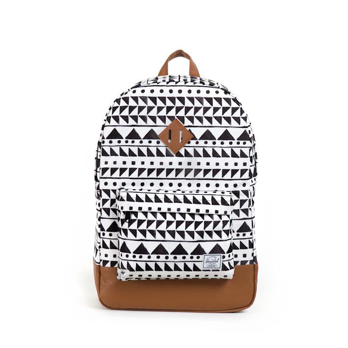Herschell Supply batoh na záda Heritage bílý sčerným vzorem