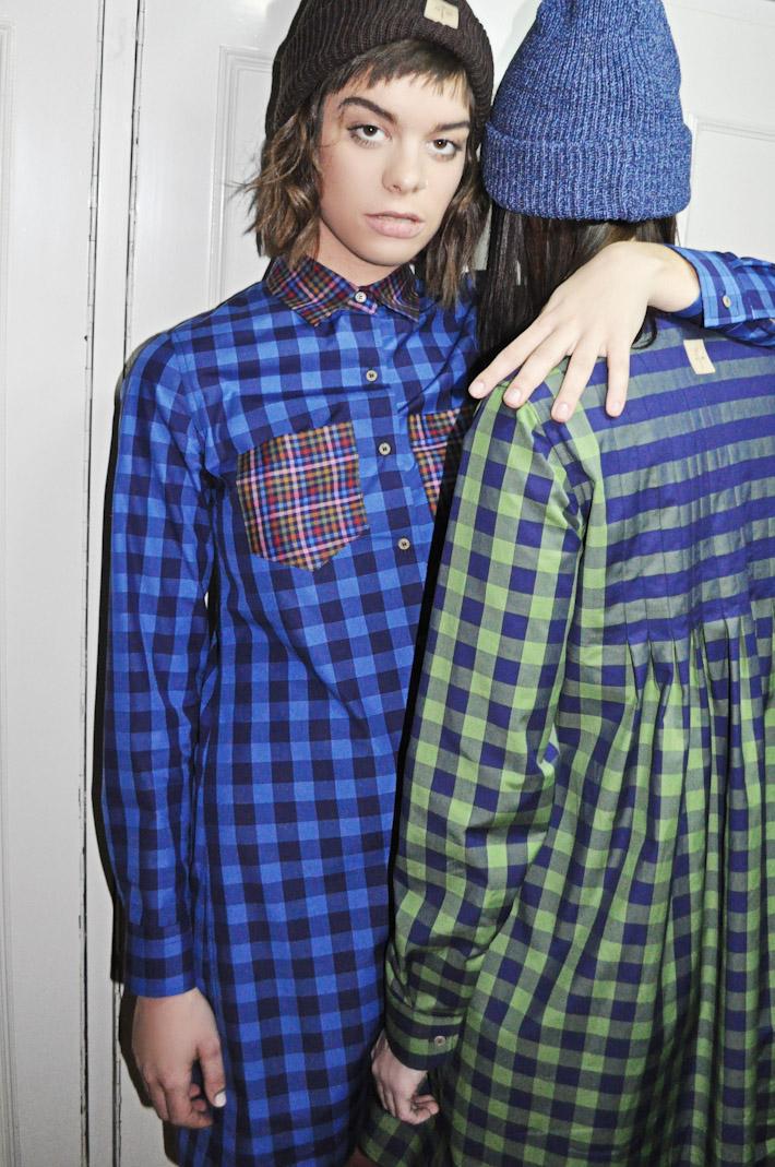 Kele dámské kostkované kárované šaty, modré, zelené