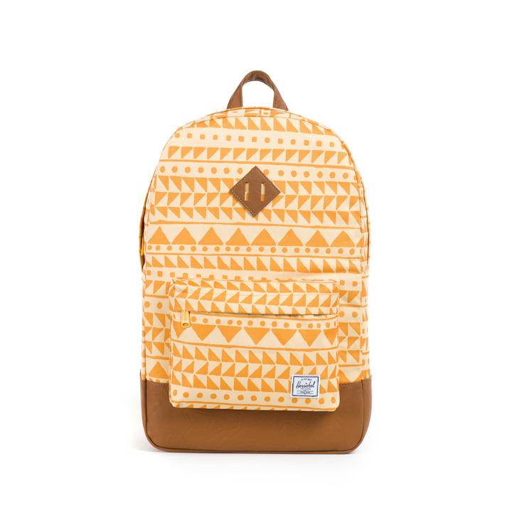 Herschell Supply batoh na záda Heritage, meruňková barva soranžovým vzorem