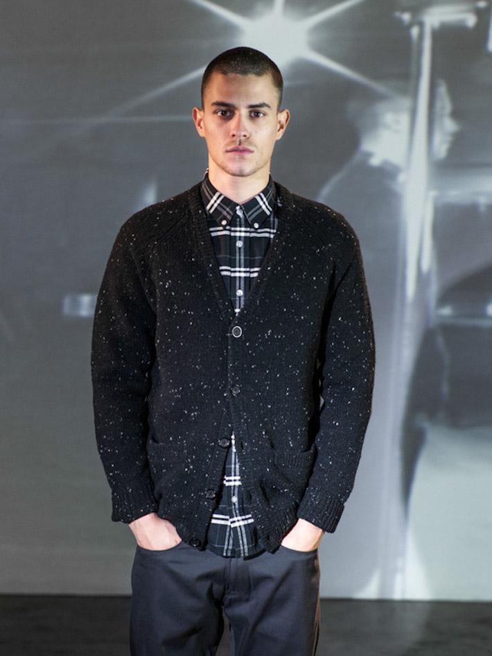 Carhart WIP pánský pletený svetr černý, pánská károvaná košile