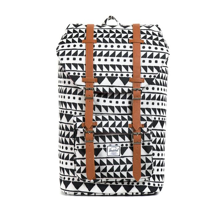Herschell Supply batoh na záda Little America bílý sčerným vzorem