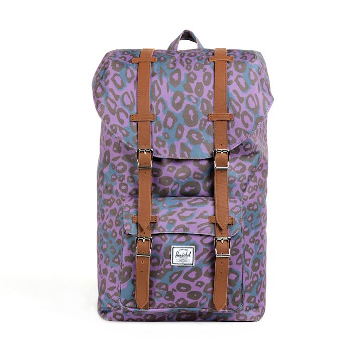 Herschell Supply batoh na záda Little America fialový sleopardím vzorem