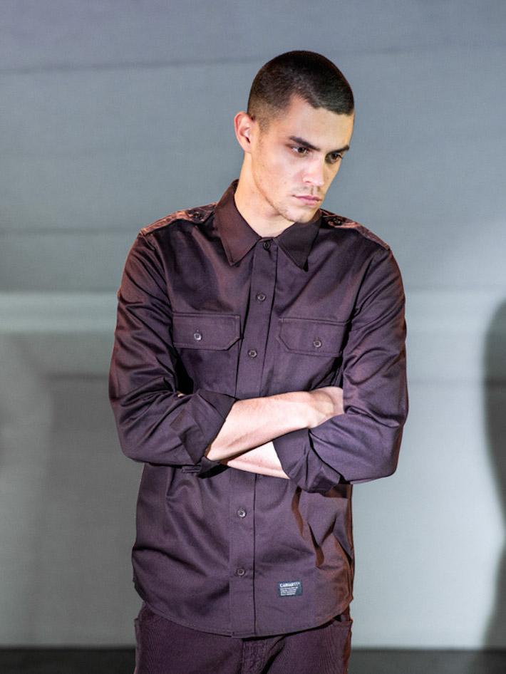Carhart WIP fialová pánská košile, fialové kalhoty
