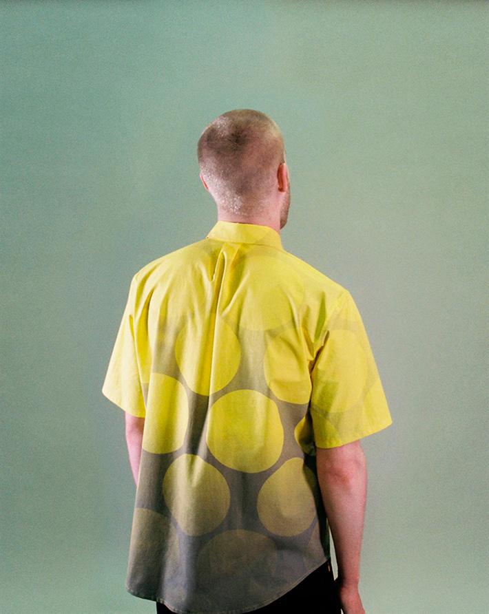Asos Black X Puma pánská žlutá košile skolečky