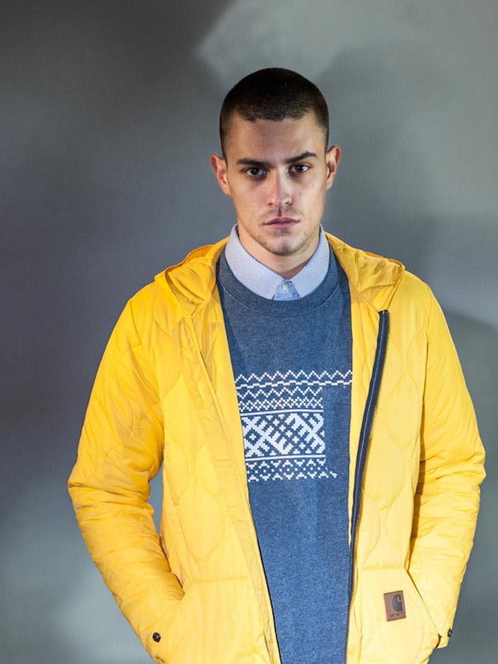 Carhart WIP pánská žlutá prošívaná zimní bunda