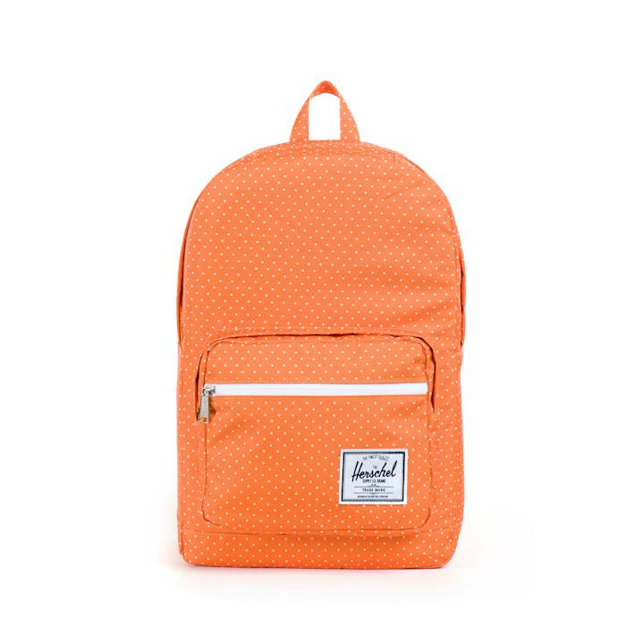 Herschell Supply batoh na záda Pop Quiz oranžový sbílými puntíky