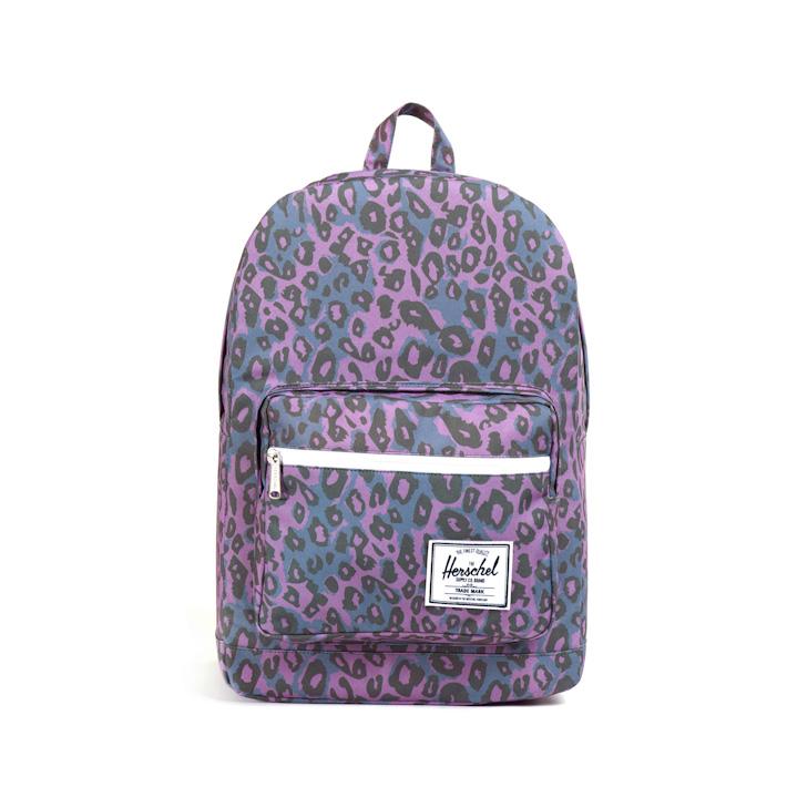 Herschell Supply batoh na záda Pop Quiz fialový sleopardím vzorem
