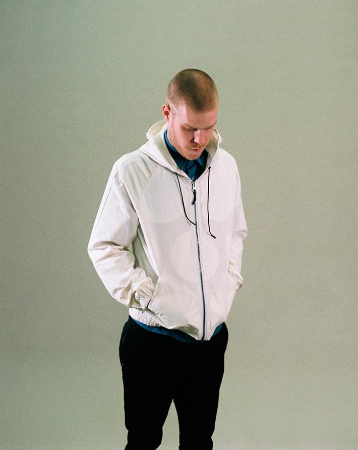 Asos Black X Puma pánská bílá bunda do pasu skolečky