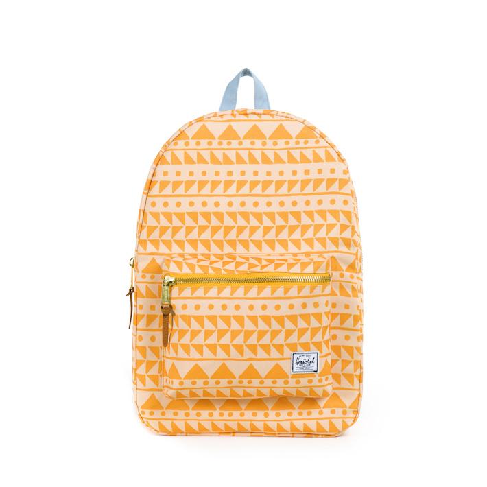 Herschell Supply batoh na záda Settlement, meruňková barva soranžovým vzorem