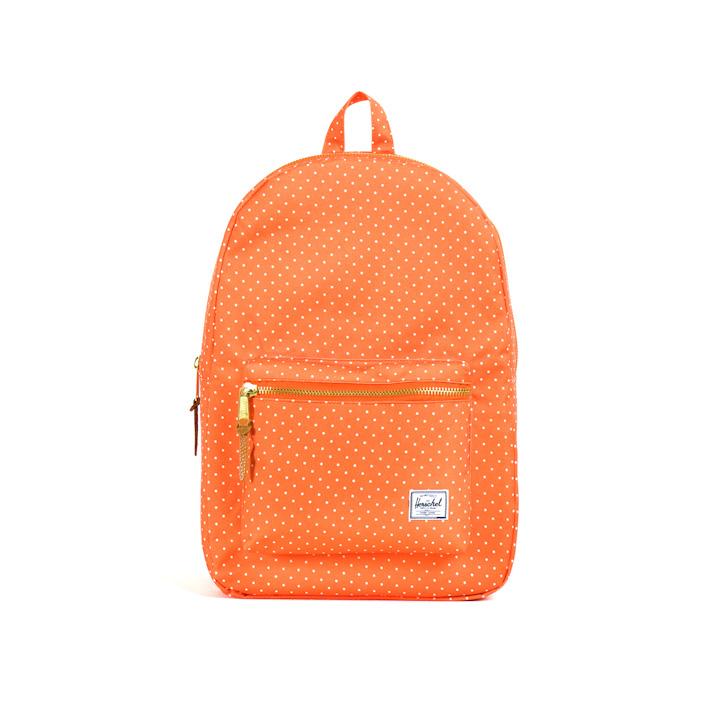 Herschell Supply batoh na záda Settlement, oranžový sbílými puntíky