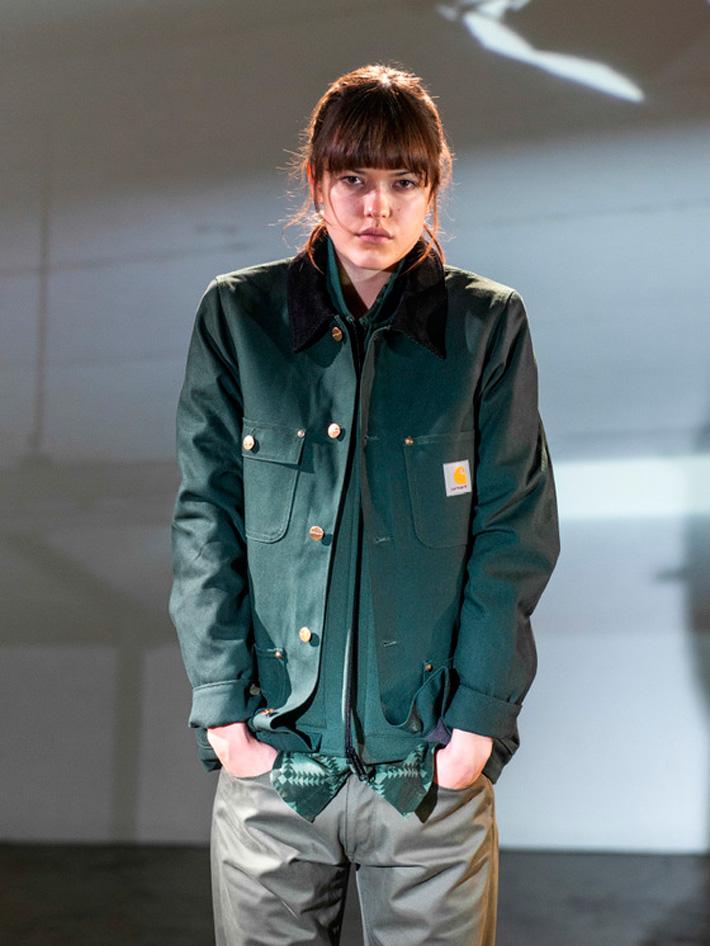 Carhart WIP, dámská podzimní zelená bunda do pasu