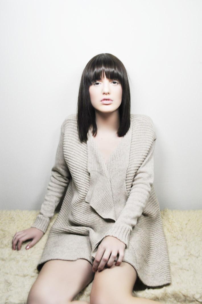 Kele dámský dlouhý teplý pletený svetr