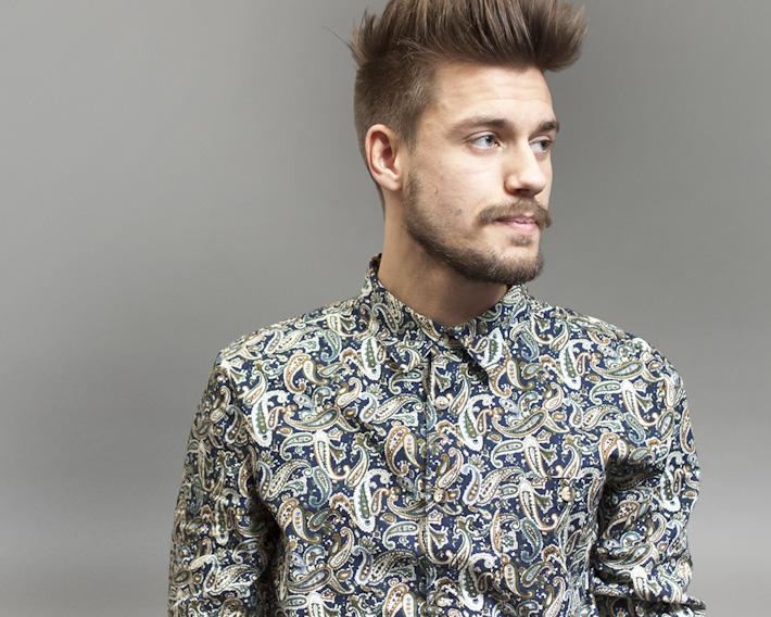 RVLT/Revolution, pánská košile se vzorem