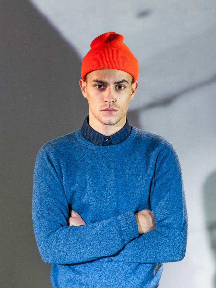 Carhart WIP pánský modrý pletený svetr