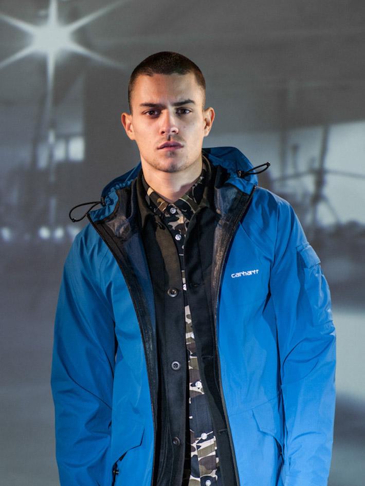 Carhart WIP pánská modrá bunda zimní