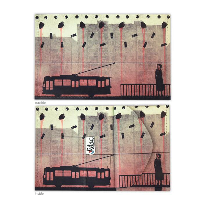 Retart, Tomori peněženka spotiskem, printed wallet