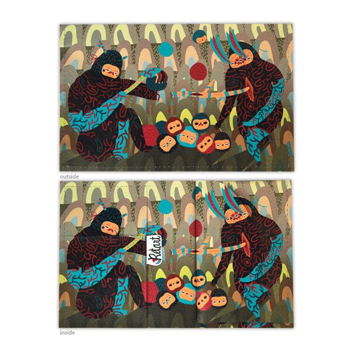 Retart, Zablotska peněženka spotiskem, printed wallet