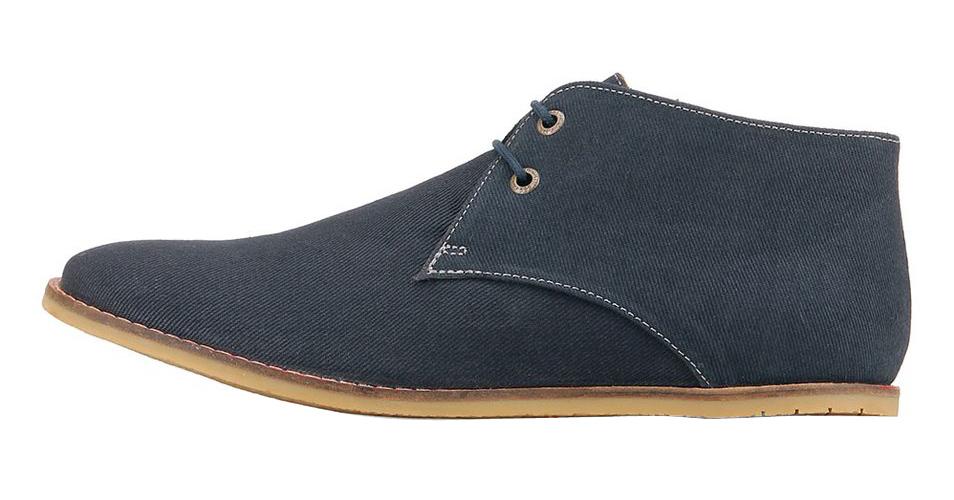 Frank Wright modré textilní boty, polobotky