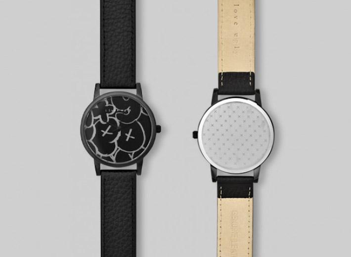 I Love Ugly kolekce Chalk černé analogové hodinky