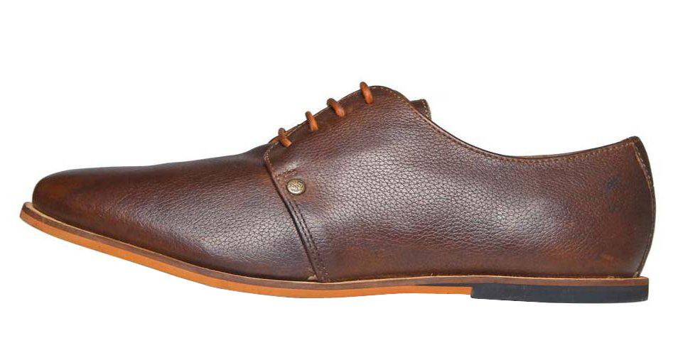 Frank Wright hnědé kožené boty, polobotky
