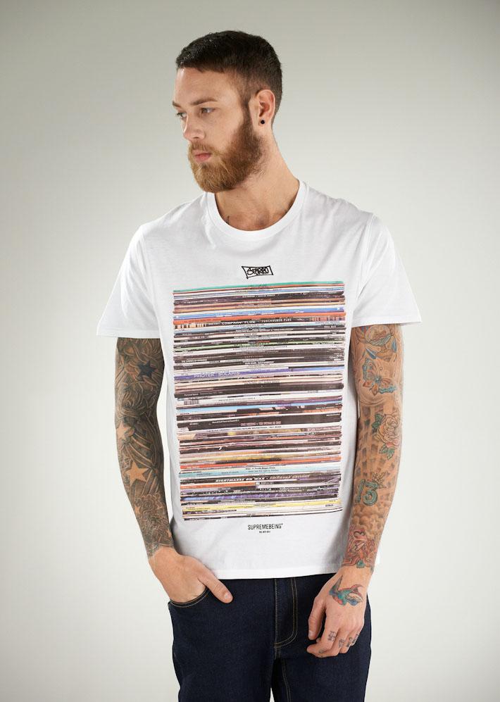 Supremebeing pánské bílé tričko spotiskem