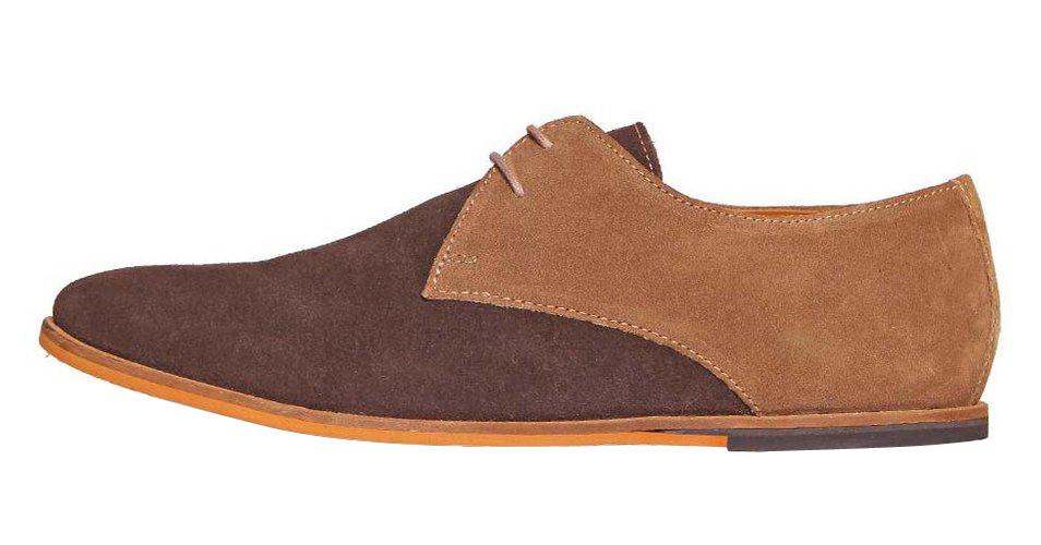 Frank Wright hnědé semišové boty, velur, polobotky