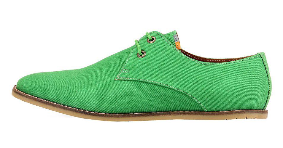 Frank Wright výrazně zelené textilní boty, polobotky