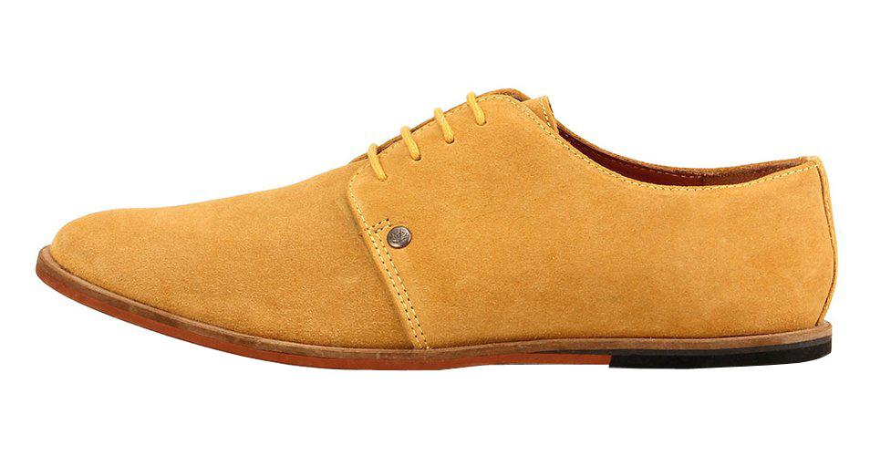 Frank Wright žluté semišové boty, polobotky, velur