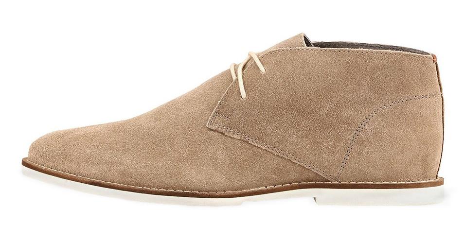 Frank Wright béžové semišové boty, polobotky, velur