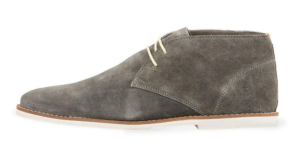 Frank Wright šedé semišové boty, polobotky, velur