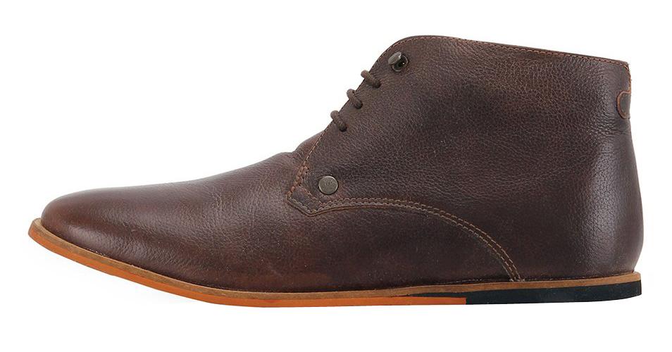 Frank Wright tmavě hnědé kožené boty, polobotky