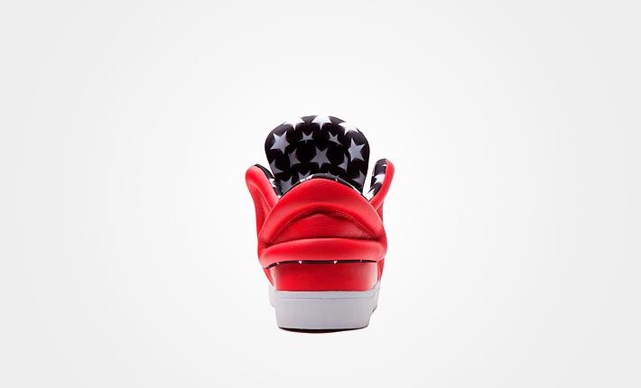 Supra Falcon Athletic Red, červené kotníkové boty, dámské apánské Sneakers