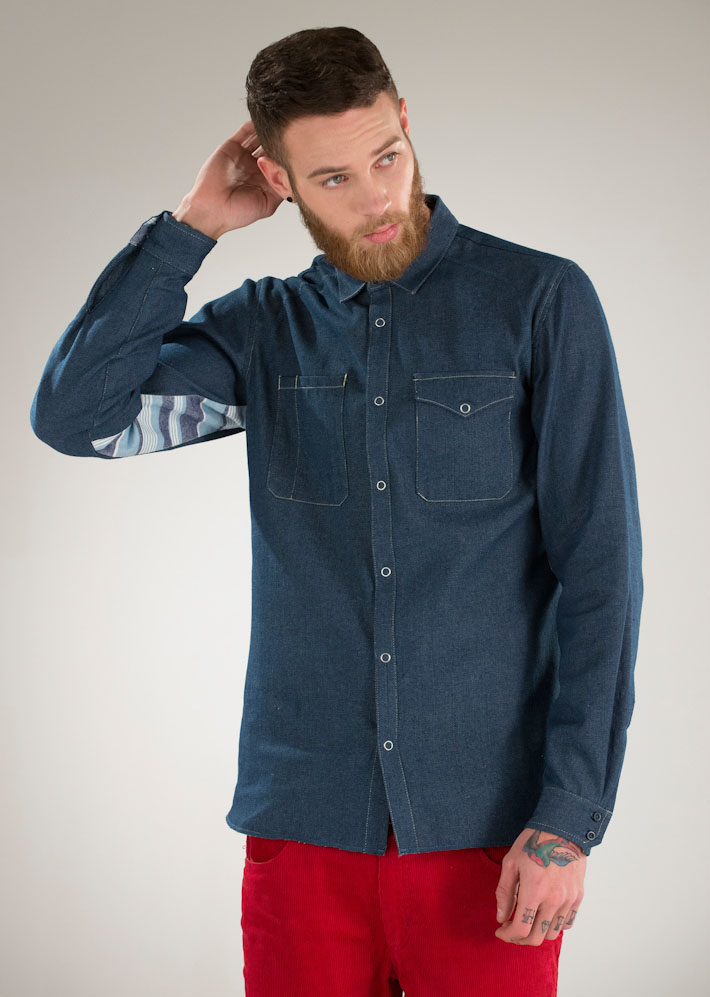 Supremebeing tmavě-modrá pánská košile