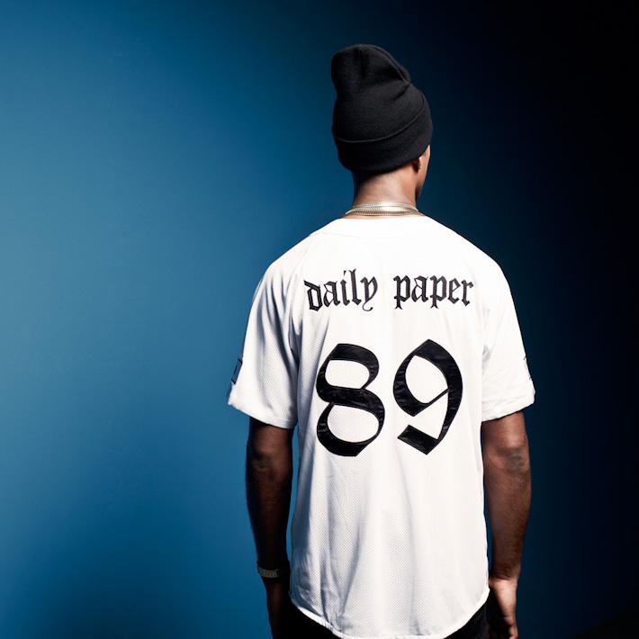 Daily Paper pánské bílá košile sčíslem 89 na zádech