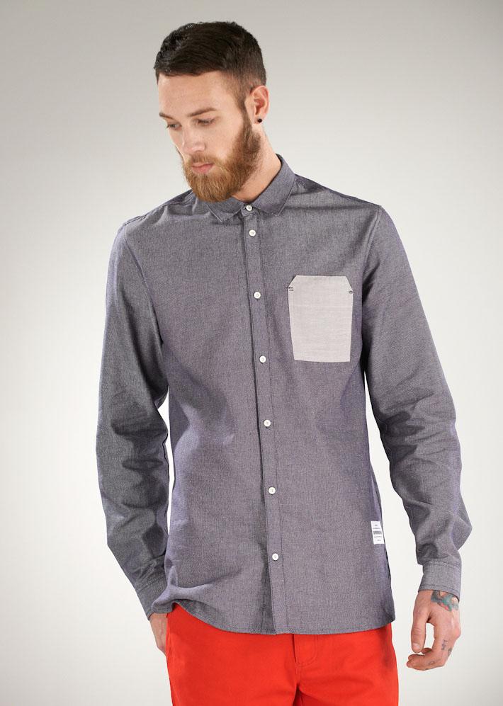 Supremebeing pánská šedá košile