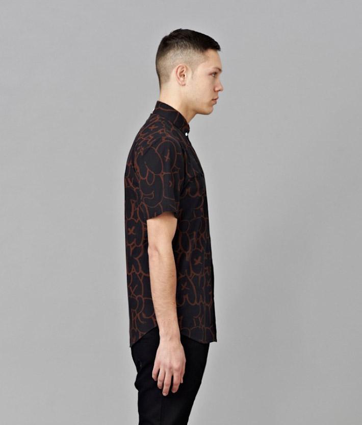 I Love Ugly kolekce Chalk pánská černá košile spotiskem, dlouhý rukáv