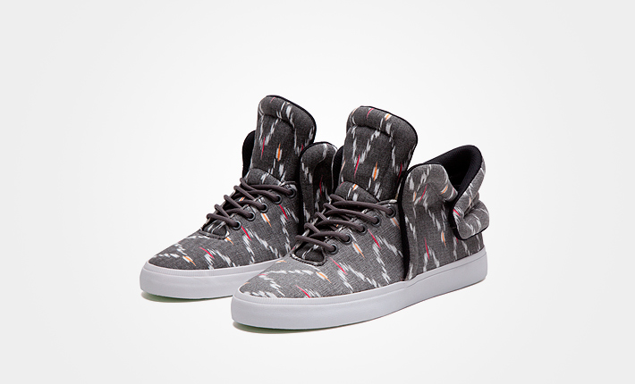 Supra Falcon Multi White, šedé kotníkové boty se vzorem, dámské apánské Sneakers