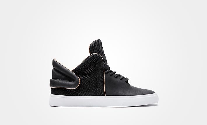 Supra Falcon Black, černé kotníkové boty, dámské apánské Sneakers
