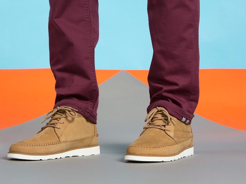 Clae – kotníkové boty pánské, semišové, kožené, hnědé