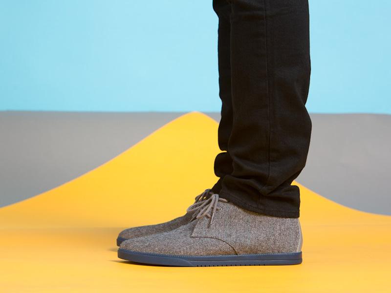 Clae – kotníkové boty pánské, šedé, textilní