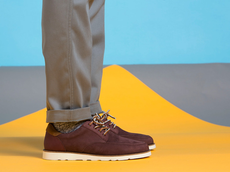 Clae – boty pánské, semišové, bordó