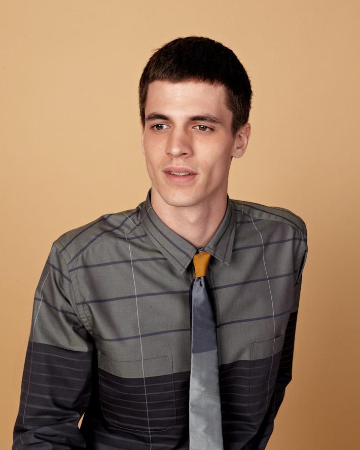 Sidian, Ersatz and Vanes pánská luxusní šedá košile, kravata se vzorem